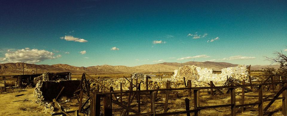 abandoned stone house in desert 1