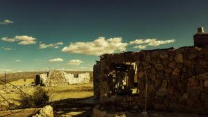 abandoned stone house in desert 4