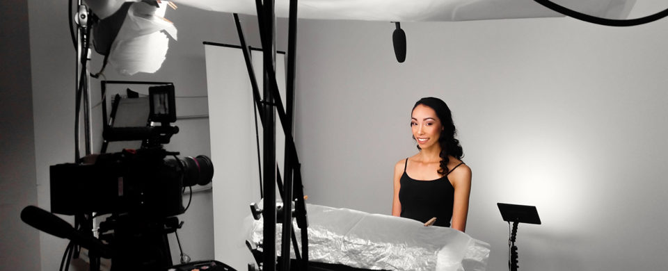 behind the scenes of a model for a beauty shoot