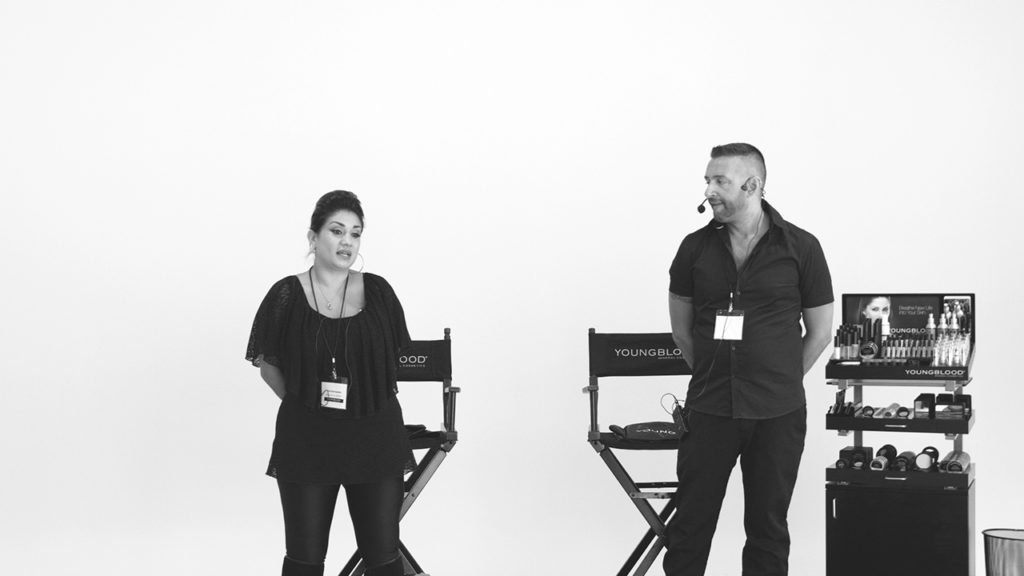 speakers at a live video streaming corporate event production