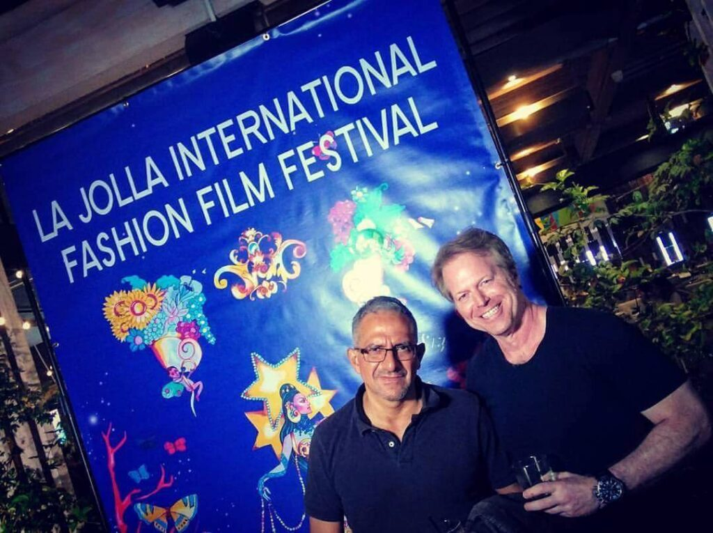 fashion film director Greg McDnald at La Jolla Festival and Roberto Correa